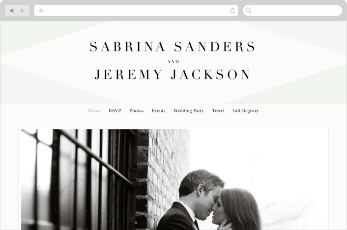 This is a green wedding website by chocomocacino called Creme Brulee printing on digital paper.