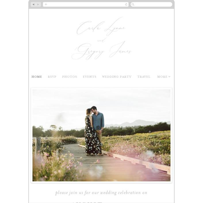 """Ethereal Elegance"" - Wedding Websites in Gravel by seulghi."