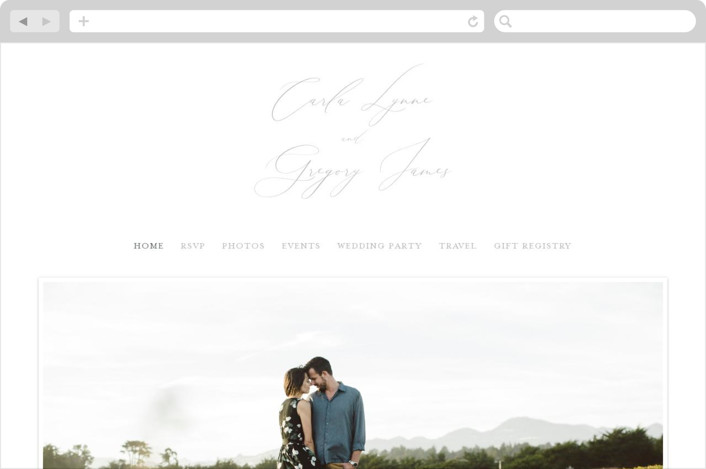 This is a grey wedding website by seulghi called Ethereal Elegance printing on digital paper.