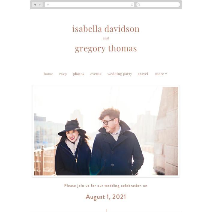 """Union"" - Wedding Websites in Dusty Rose by seulghi."
