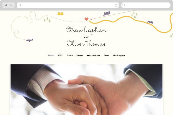 """""""Destination"""" - Wedding Websites in Lilac Haze by leslie hamer."""