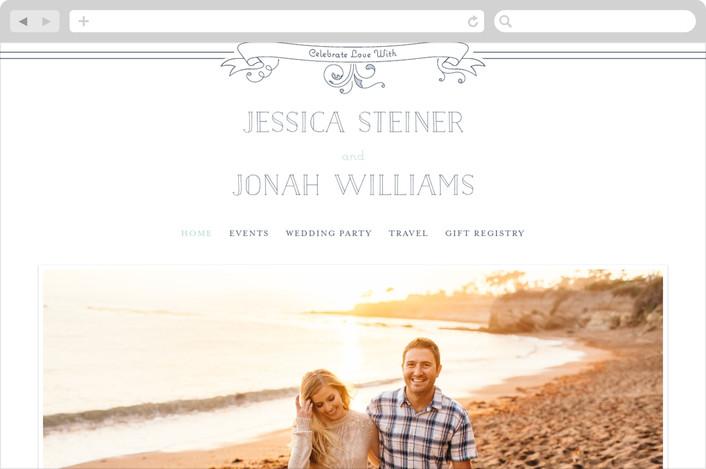 """""""Elegant Scrollwork Ampersand"""" - Hand Drawn Wedding Websites in Sea by DMHW design."""