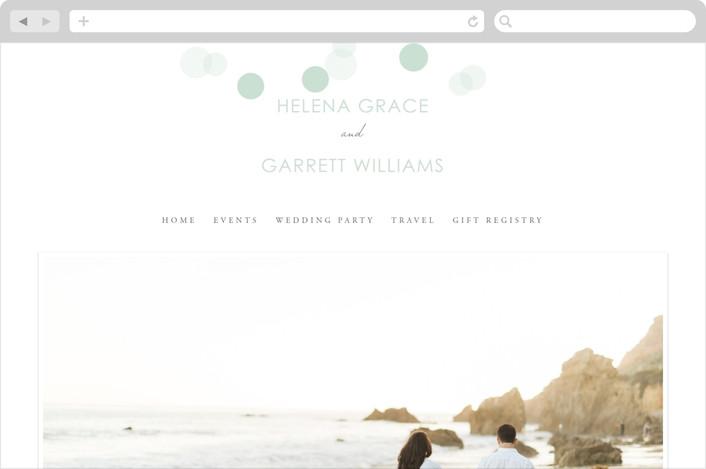 """Float Away"" - Modern, Preppy Wedding Websites in Charcoal by Design Lotus."