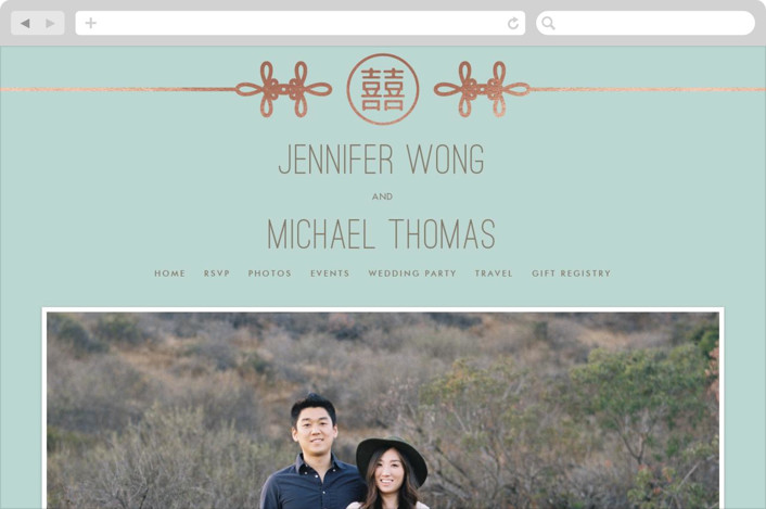 """""""Double Knotted Happiness"""" - Wedding Websites in Dusk by Ling Wang."""