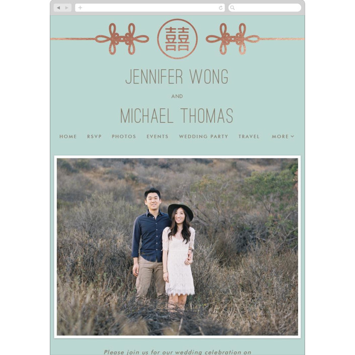 """Double Knotted Happiness"" - Wedding Websites in Dusk by Ling Wang."