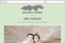 Striped Bow Wedding Websites