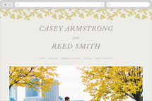 Autumn Leaves Wedding Websites