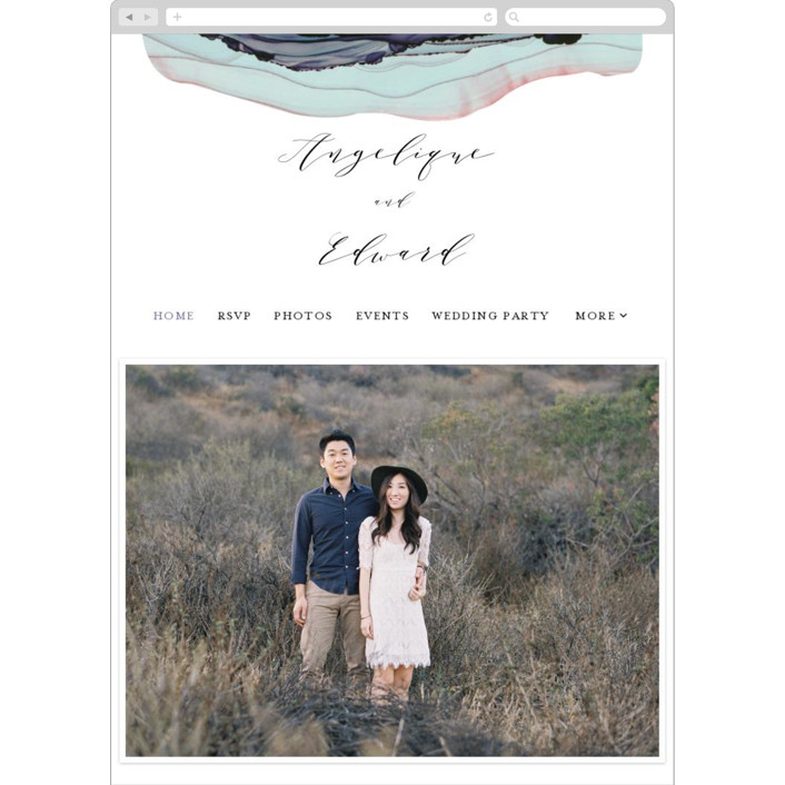 """""""Flow"""" - Wedding Websites in Amethyst by Three Kisses Studio."""