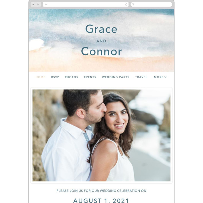 """""""Sea and Sand"""" - Wedding Websites in Cortez by Jenny Partrite."""