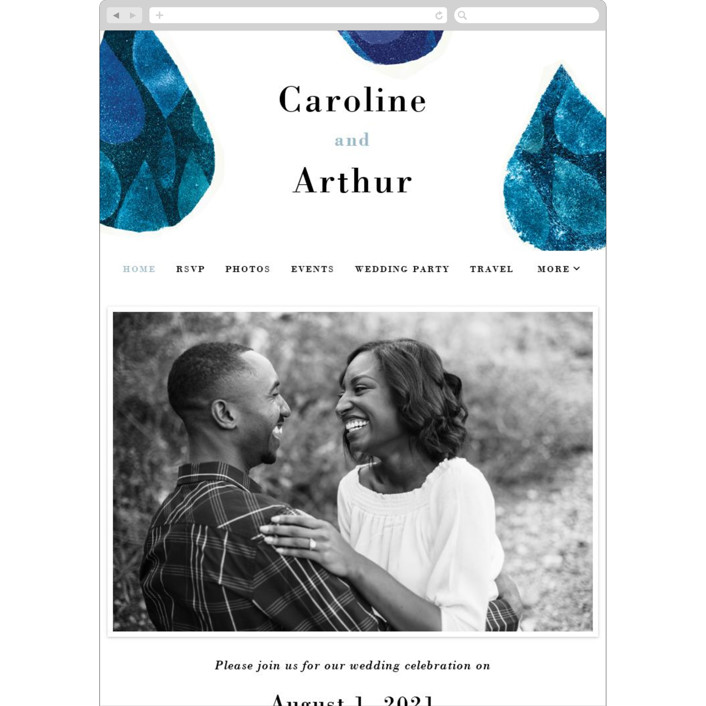 """Drops"" - Wedding Websites in Sea by Bethania Lima."