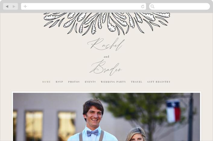 """""""FancySchmancy"""" - Wedding Websites in Classic by Jen Owens."""