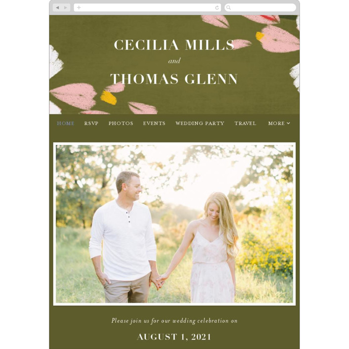 """romance in spring"" - Wedding Websites in Olive by Angela Marzuki."