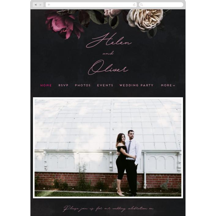 """Crazy in Love"" - Wedding Websites in Hot Pink by Design Lotus."