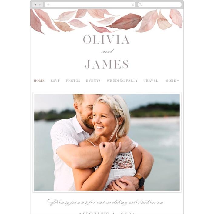 """""""Fallen"""" - Wedding Websites in Rust by Creo Study."""