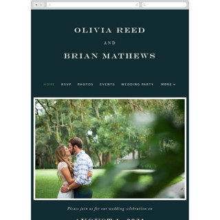 This is a green wedding website by Jennifer Postorino called Fresh Greenery printing on digital paper.