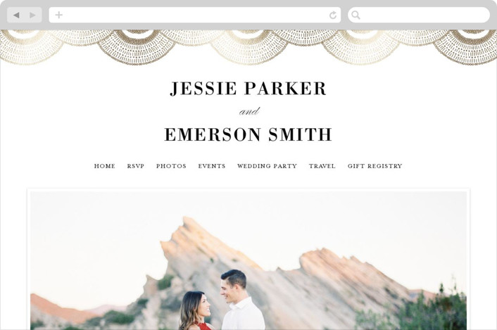 Deco Fringe Wedding Websites by Alethea and Ruth