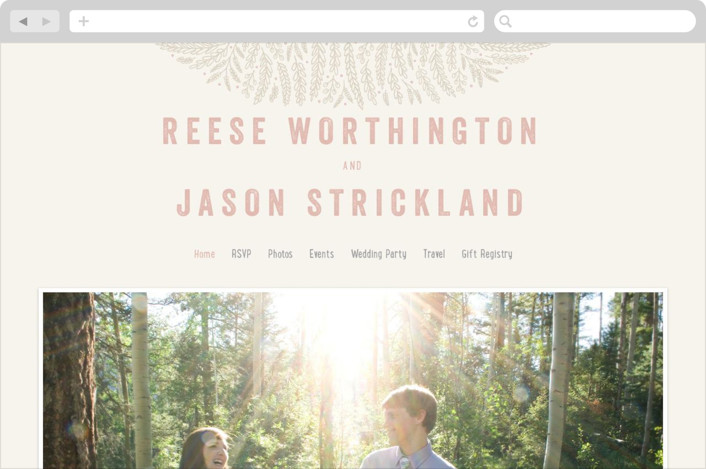 """Rustic Charm"" - Wedding Websites in Petal by Hooray Creative."