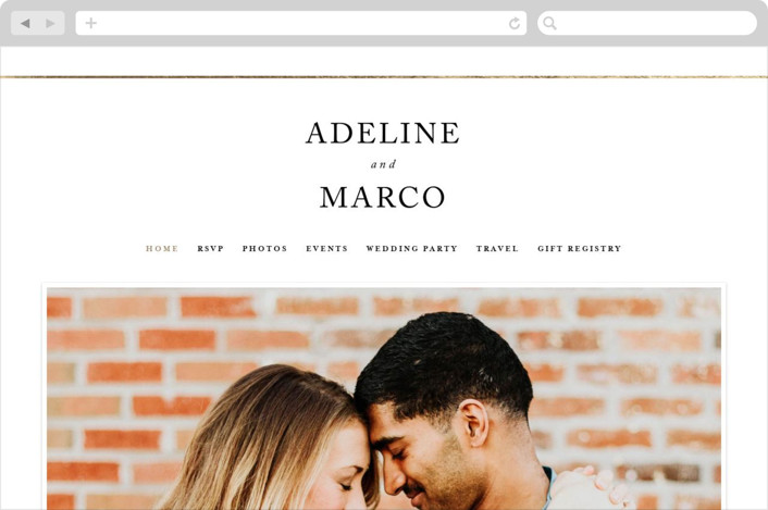 This is a white wedding website by Pixel and Hank called Suited printing on digital paper.