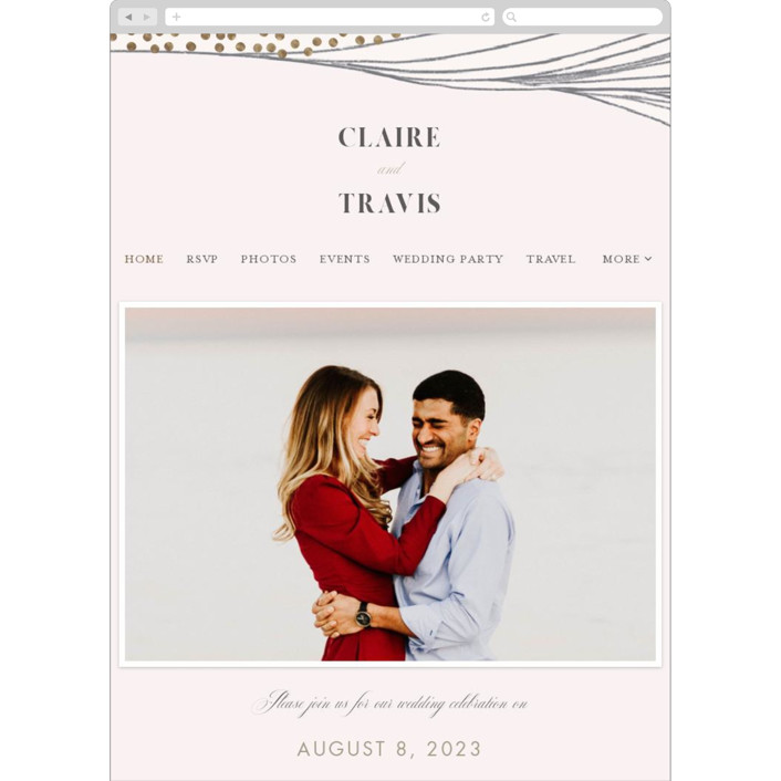 """""""Flowing Stripes"""" - Modern Wedding Websites in Pebble by Monika Drachal."""