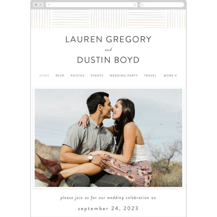 """""""Bamboo"""" - Modern Wedding Websites in Moon by Tennie and Co.."""