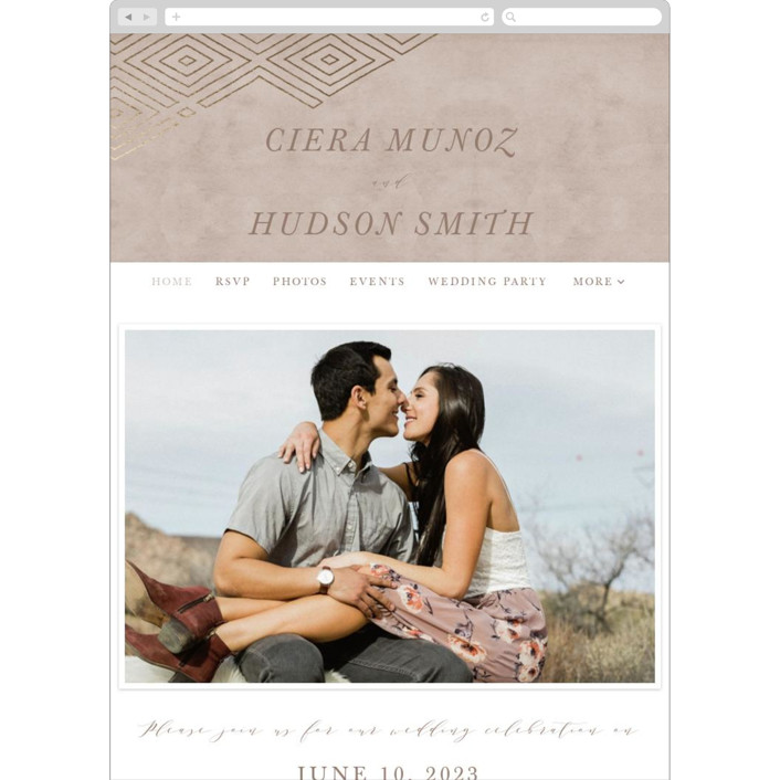 """Geometrica"" - Bohemian Wedding Websites in Doe by Owl and Toad."