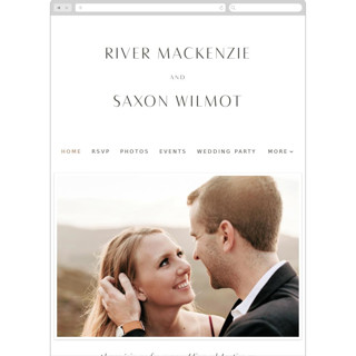This is a white wedding website by Blustery August called Accent printing on digital paper.