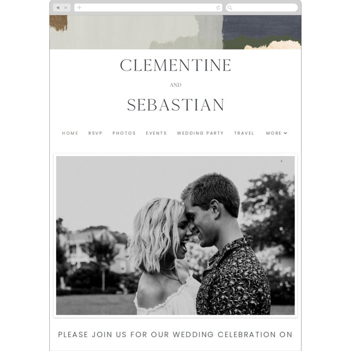 """Textural"" - Modern Wedding Websites in Forest Walks by Blustery August."
