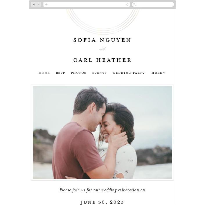 """gloss rings"" - Modern Wedding Websites in Quartz by Roxanne Fay."
