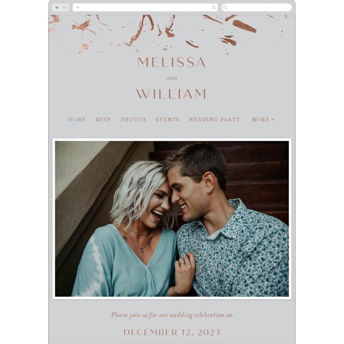 """Heartstrings"" - Modern Wedding Websites in Slate by Erin German Design."