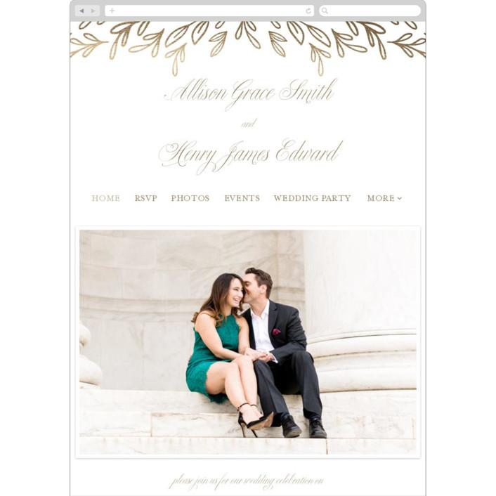 """Chic Monogram"" - Wedding Websites in Porcelain by Mansi Verma."