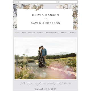 This is a grey wedding website by Petra Kern called Vitrage printing on digital paper.