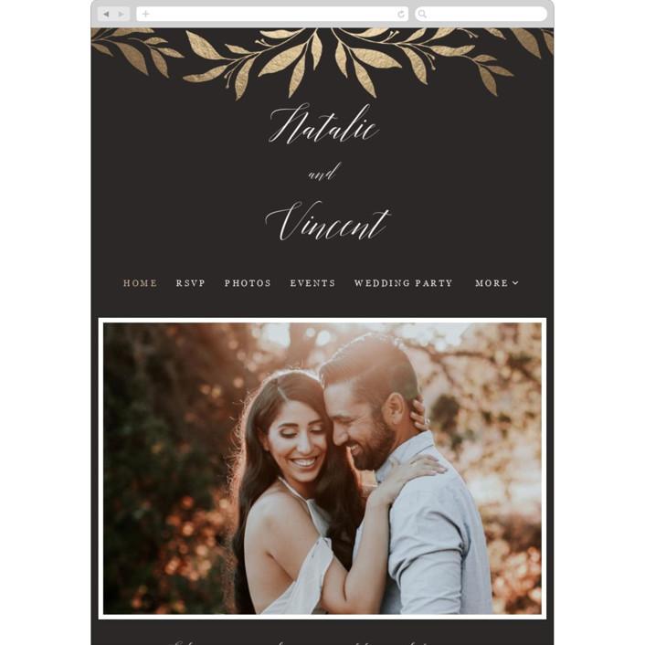 """""""Mod Wreath"""" - Wedding Websites in Eclipse by Stellax Creative."""