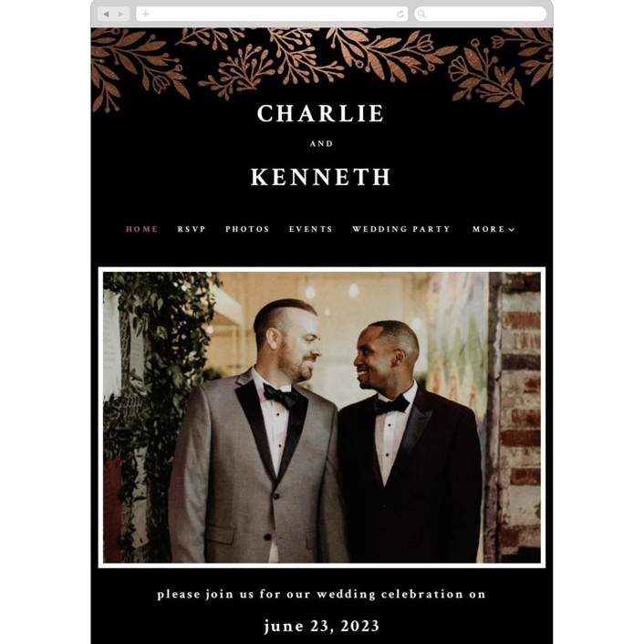 """Floral Ampersand"" - Wedding Websites in Tuxedo by Jana Volfova."