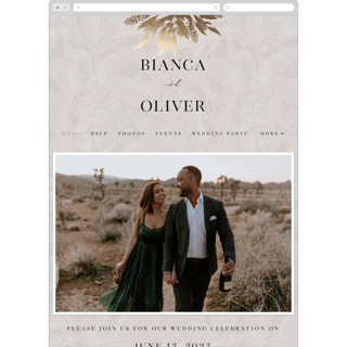 This is a grey wedding website by Iveta Angelova called Winter Bouquet printing on digital paper.