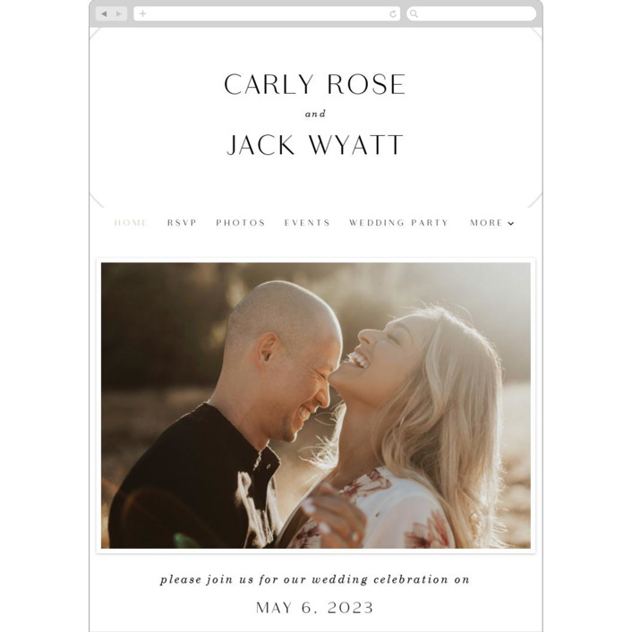 """""""Ring"""" - Modern Wedding Websites in Pearl by Baumbirdy."""