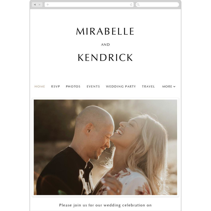 """""""Our Ever After"""" - Wedding Websites in Noir by Up Up Creative."""