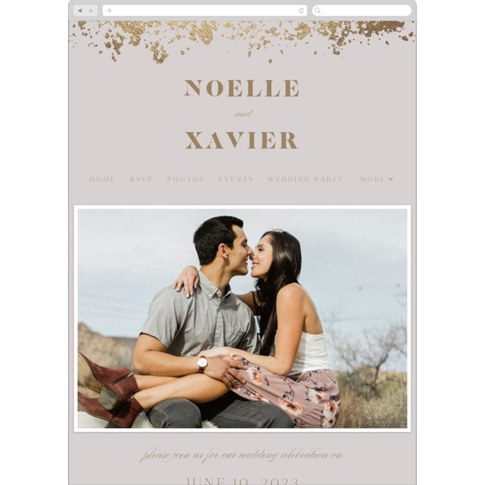 """Patina Frame"" - Wedding Websites in Light Mauve by Ana Sharpe."