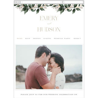This is a brown wedding website by Alethea and Ruth called Vine and Berry Frame printing on digital paper.