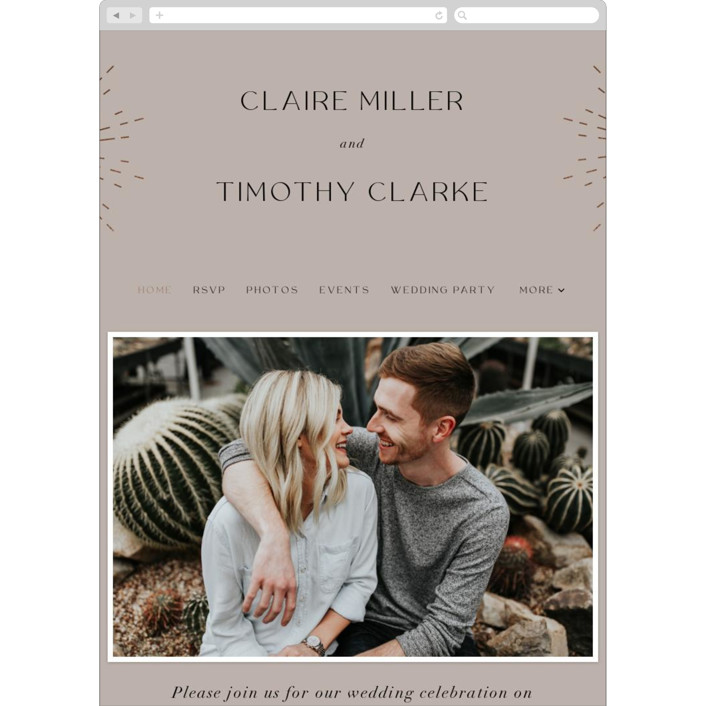 """Minimalist Deco"" - Modern Wedding Websites in Fawn by Nazia Hyder."