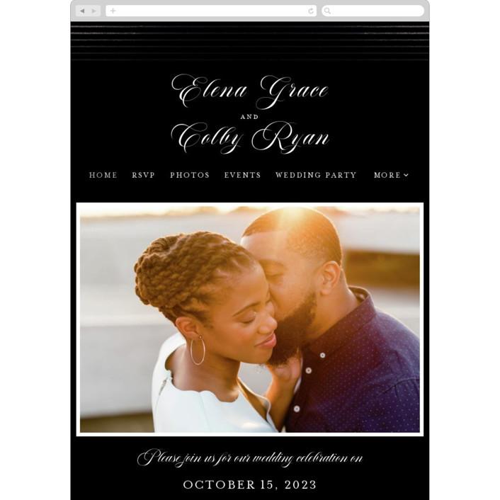 """Classic Stripes"" - Wedding Websites in Tuxedo by Christie Garcia."