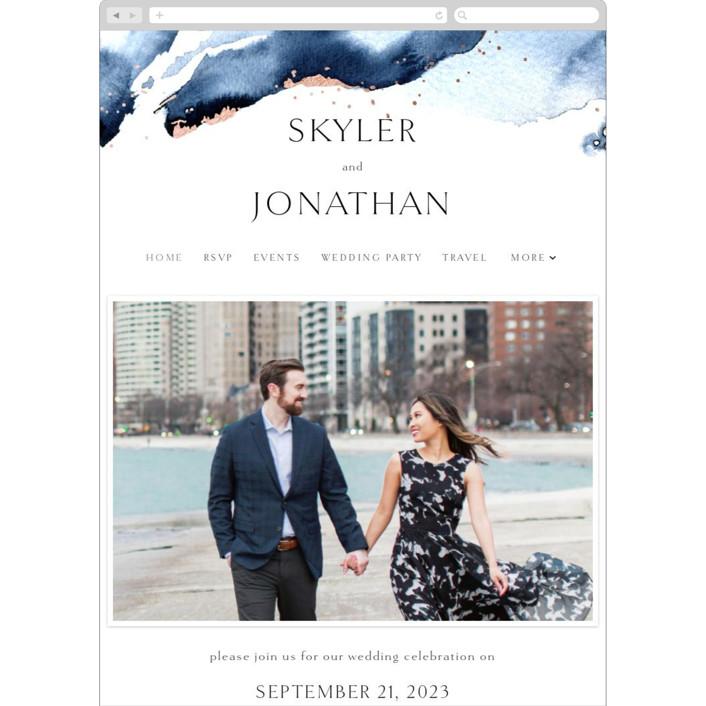 """Indigo"" - Wedding Websites in Storm by Anastasia Makarova."