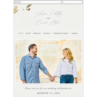 This is a white wedding website by Design Lotus called far and away printing on digital paper.