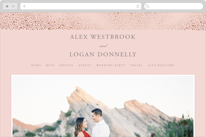This is a grey wedding website by Erin Deegan called glittered printing on digital paper.