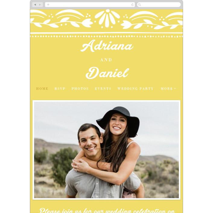 """Pretty Picado"" - Wedding Websites in Sunshine by Jessie Steury."