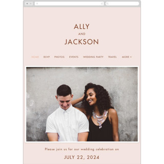 This is a brown wedding website by Amy Payne called There Will Be a Party printing on digital paper in standard.