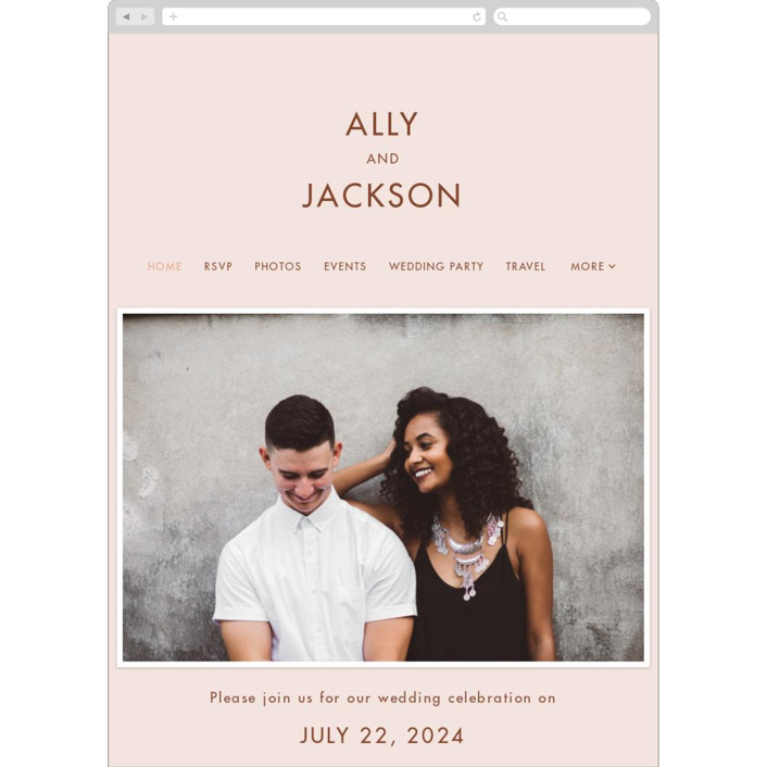 """""""There Will Be a Party"""" - Funny Wedding Websites in Terra Cotta by Amy Payne."""