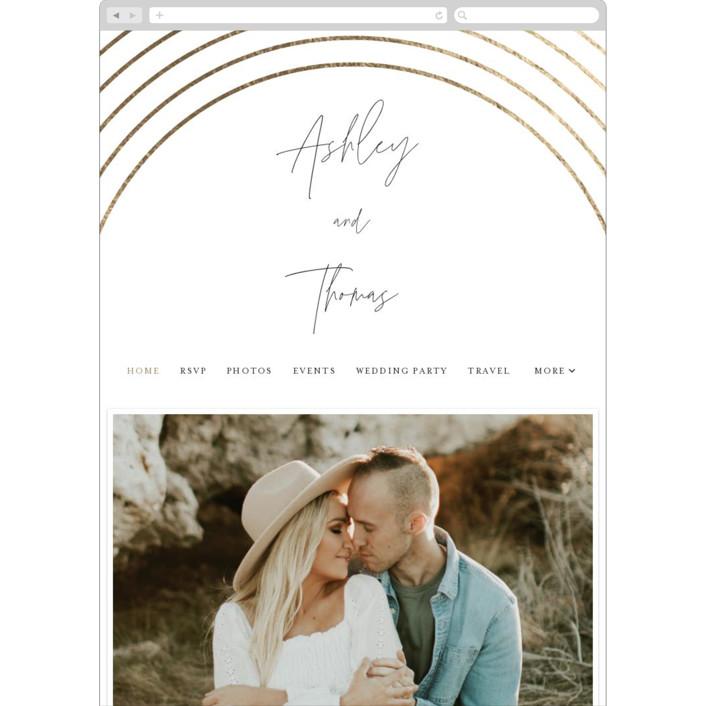 """Arch"" - Wedding Websites in Silk by Kelly Schmidt."