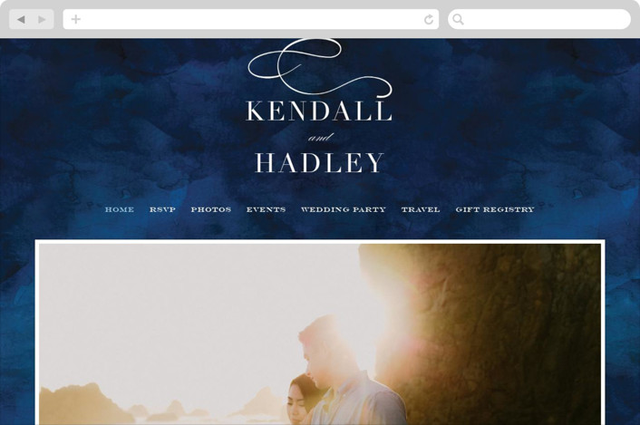 """Indigo Sea"" - Wedding Websites in Ocean by Kelly Schmidt."