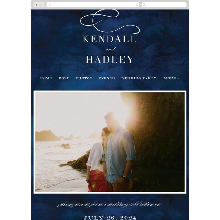 """Indigo Sea"" - Wedding Websites in Ocean by Kelly Schmidt."