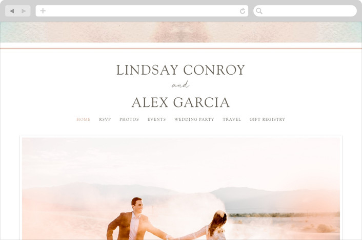 """""""Serenity Quartz"""" - Wedding Websites in Snow by Erika Firm."""